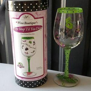 SALE🌞3/$30🌞 Wine Shop 'Til You Drop Wine Glass